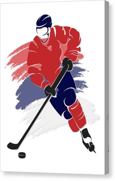 Washington Capitals Canvas Print - Capitals Shadow Player2 by Joe Hamilton
