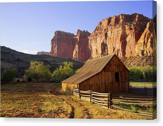 Utah Canvas Print - Capitol Barn by Chad Dutson