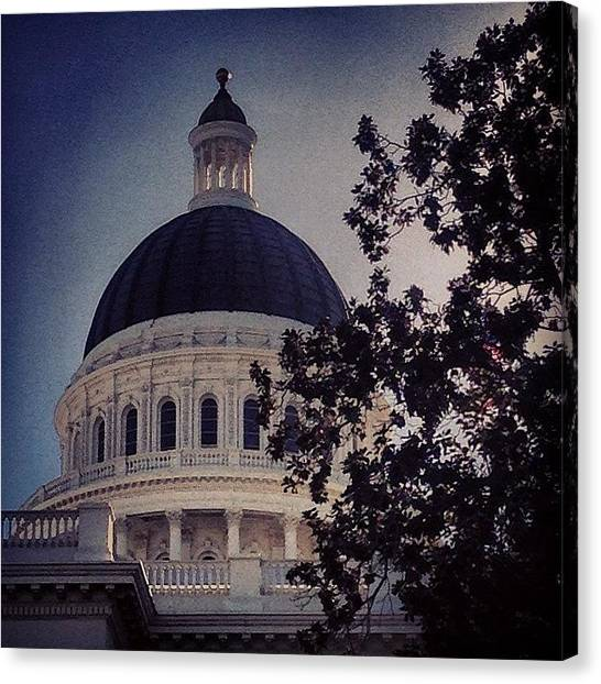 Sacramento State Canvas Print - Capitol Dome by Go Inspire Beauty