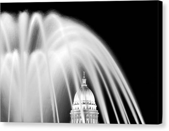 Composition Canvas Print - Capitol Fountain by Todd Klassy