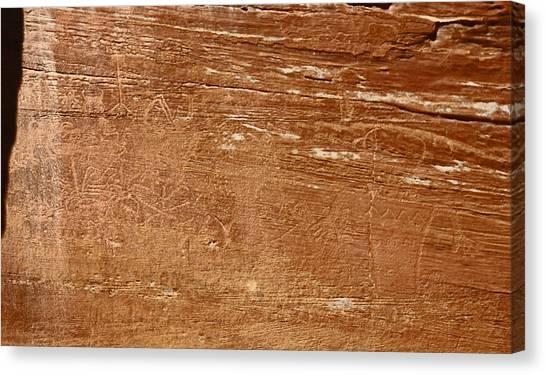 Capitol Reef Np Petroglyph Canvas Print