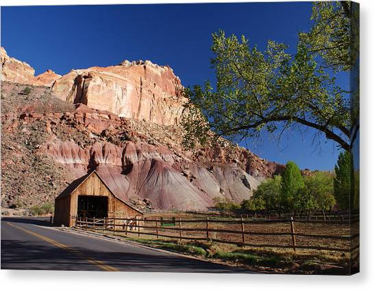 Capitol Reef Ranch Canvas Print by Michael J Bauer
