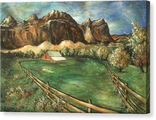 Capitol Reef Utah - Landscape Art Painting Canvas Print