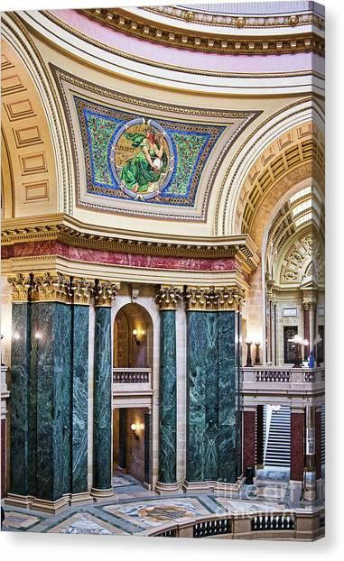 Capitol - Madison - Wisconsin Canvas Print