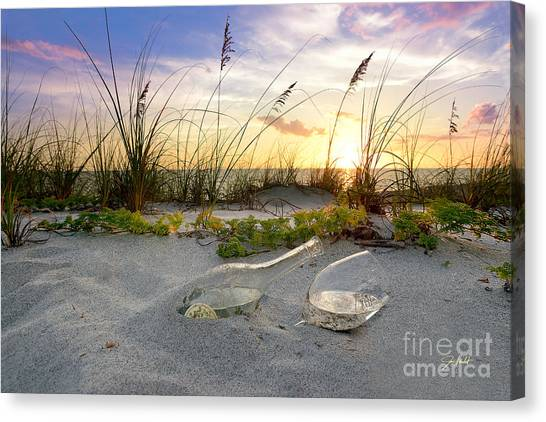 Seagrass Canvas Print - Captiva  Sunset by Jon Neidert