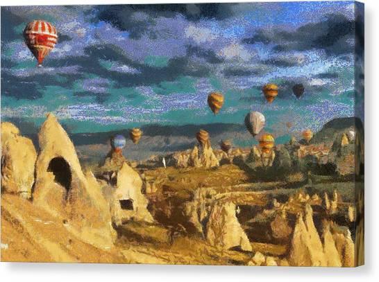Cappadocia Ballons Fiesta Canvas Print