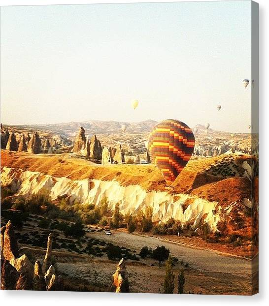 Balloons Canvas Print - #cappadocia #instagram #turkey by Ozan Goren
