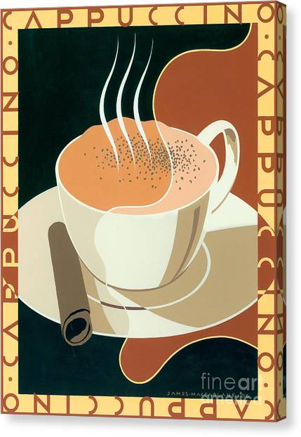 Coffee Canvas Print - Cappuccino by Brian James