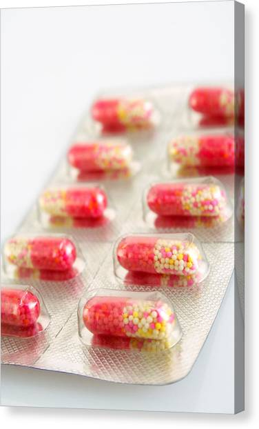 Capsules In Blister Pack Canvas Print by Visage