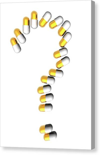 Capsules In Question Mark Canvas Print by Victor Habbick Visions
