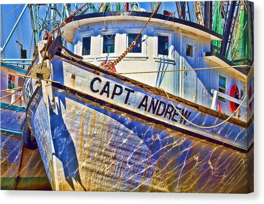Capt Andrew Shrimper Canvas Print