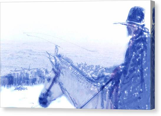 Capt. Call In A Snow Storm Canvas Print