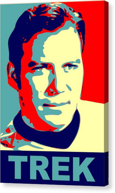 James T. Kirk Canvas Print - Capt. Kirk Pop by Paul Van Scott
