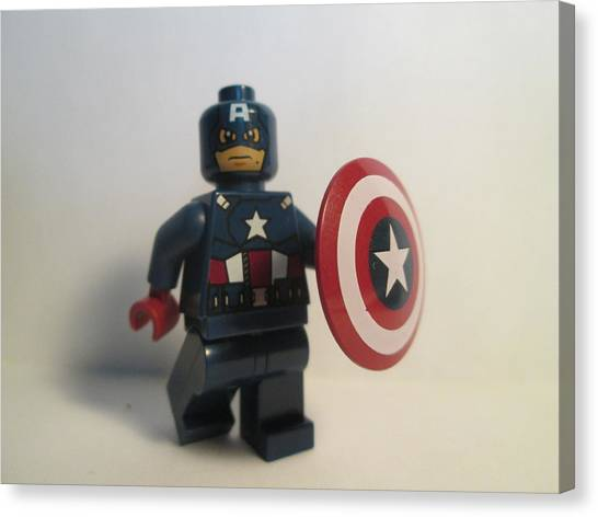Captain America Canvas Print by Harrison Matlock
