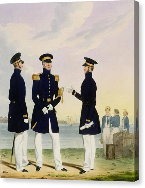 Royal Marines Canvas Print - Captain Flag Officer And Commander by Eschauzier and Mansion