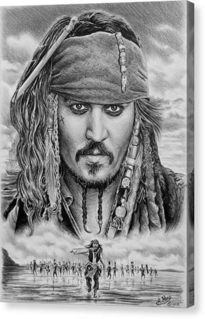 Johnny Depp Canvas Print - Captain Jack Sparrow by Andrew Read