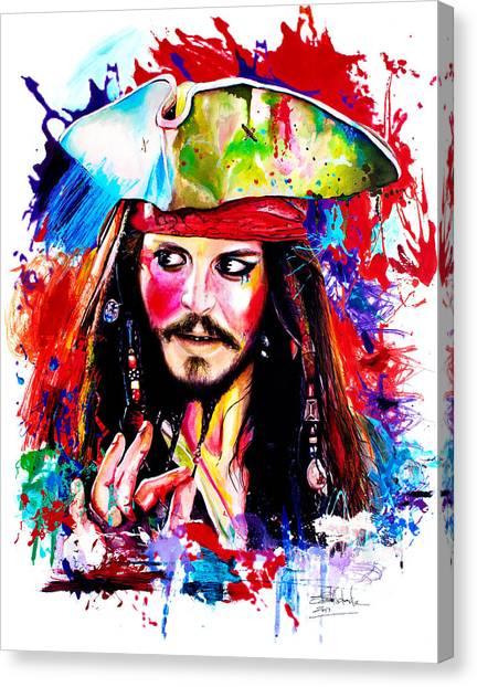 Johnny Depp Canvas Print - Captain Jack Sparrow  by Isabel Salvador
