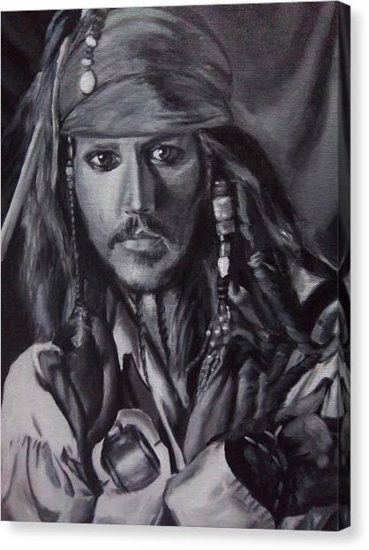 Captain Jack Sparrow Canvas Print by Lori Keilwitz