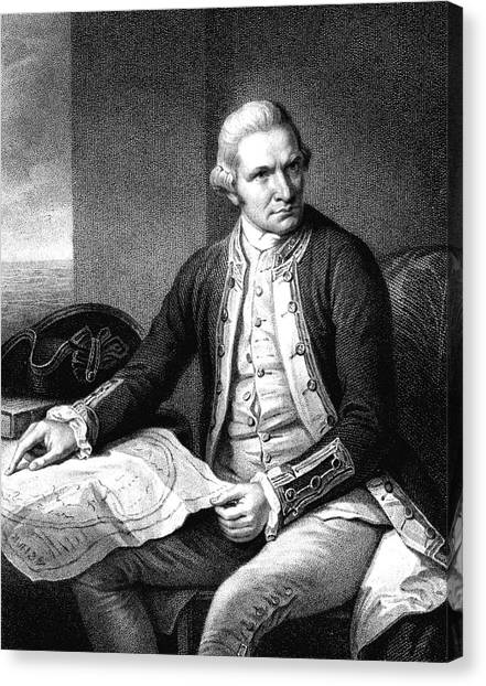 Captain James Cook Canvas Print by Collection Abecasis