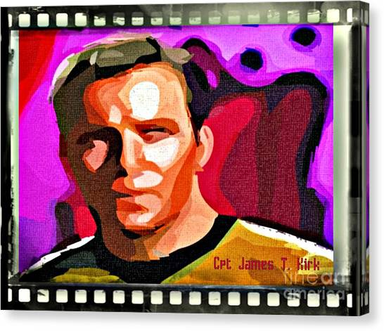 James T. Kirk Canvas Print - Captain James T Kirk by John Malone