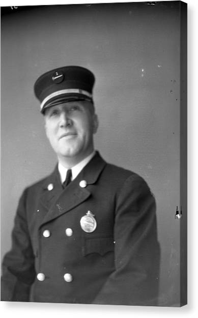 Chicago Fire Canvas Print - Captain Kinch Of The Century Of Progress Fire Department by Retro Images Archive