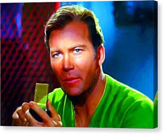 James T. Kirk Canvas Print - Captain Kirk by Paul Quarry