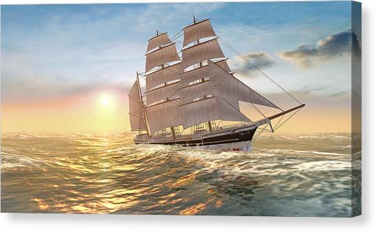 Captain Larry Paine Clippership Canvas Print