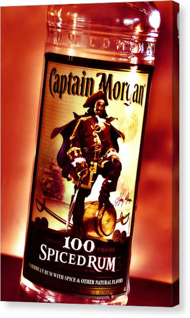 Captain Morgan Red Toned Canvas Print
