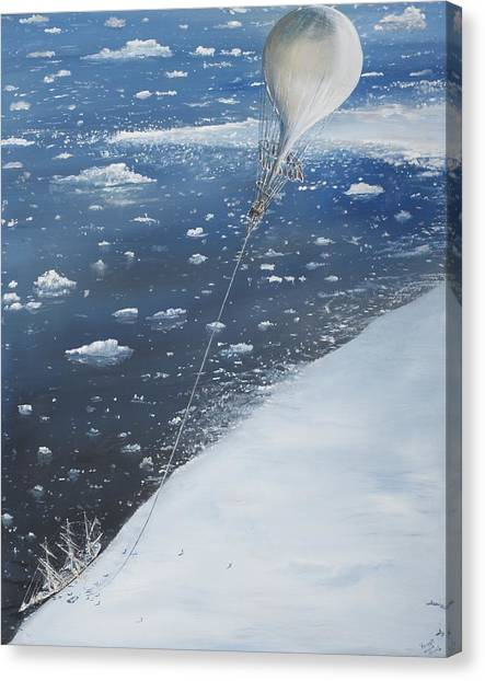 Antarctica Canvas Print - Captain Scott Antarcticas First Aeronaut by Vincent Alexander Booth