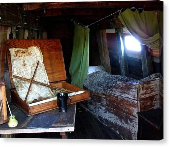 Captain's Quarters Aboard The Mayflower Canvas Print