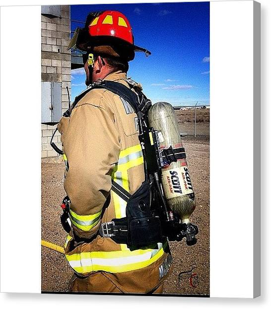 Firefighters Canvas Print - #captian #federalfire #fedfire #iaff by James Crawshaw