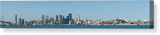 Bay Bridge Canvas Print - Captioncity At The Waterfront, San by Panoramic Images