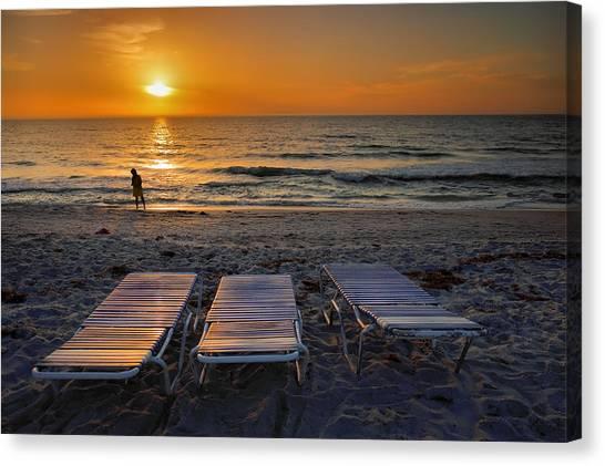 Captiva Sunset I Canvas Print by Steven Ainsworth