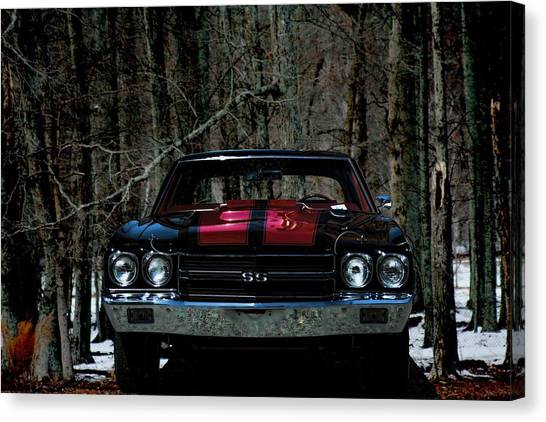 Car Art Chevy Chevelle Ss Hdr Canvas Print
