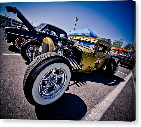 Car Candy Canvas Print by Merrick Imagery