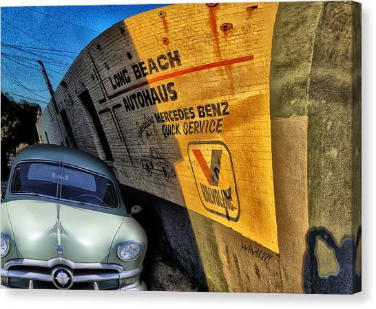 Car In Alley Canvas Print