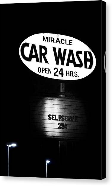 Communications Canvas Print - Car Wash by Tom Mc Nemar