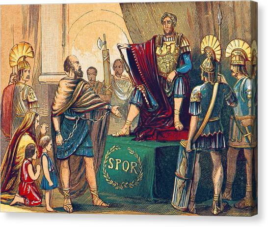 Notable Canvas Print - Caractacus Before Emperor Claudius, 1st by British Library