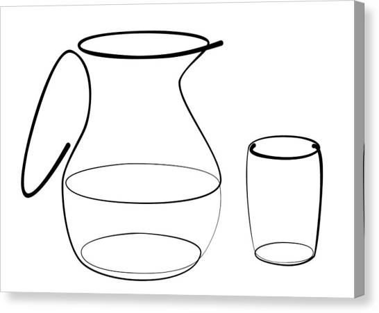 Carafe Glass Line Canvas Print