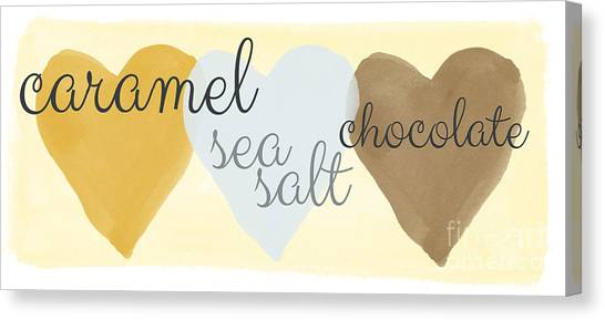 Salt Canvas Print - Caramel Sea Salt And Chocolate by Linda Woods