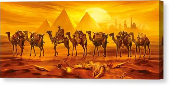 Caravan Canvas Print - Caravan by MGL Meiklejohn Graphics Licensing