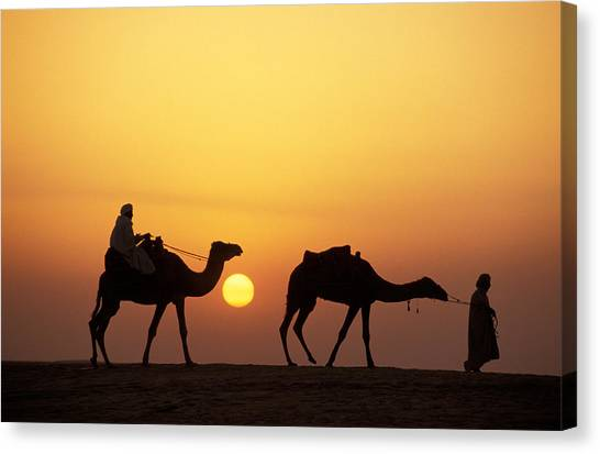 Arabian Desert Canvas Print - Caravan Morocco by Panoramic Images