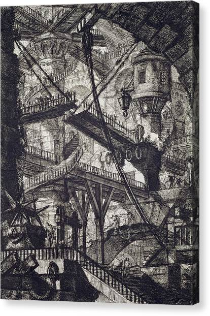 Dungeons Canvas Print - Carceri Vii by Giovanni Battista Piranesi