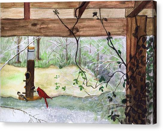 Cardinal-back Porch Picnic Canvas Print