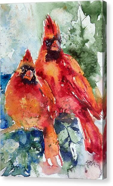Cardinal Birds Canvas Print