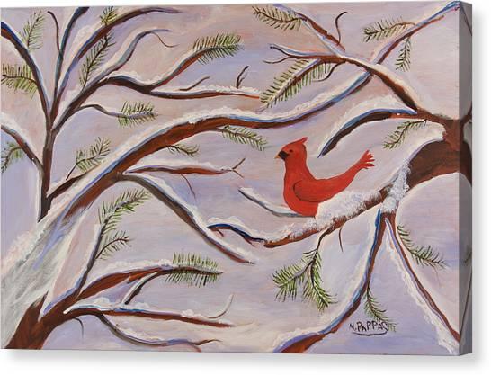 Cardinal Canvas Print by Margaret Pappas