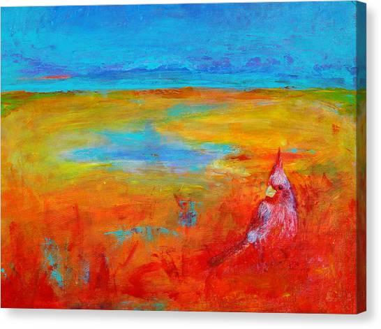 Cardinal Canvas Print by Valerie Lynch