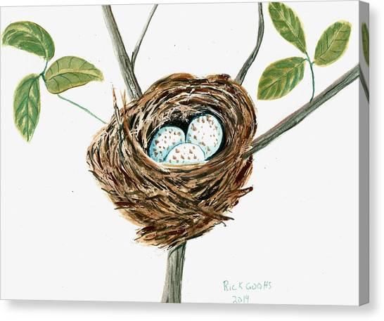 Cardinal's Nest Canvas Print by Richard Goohs