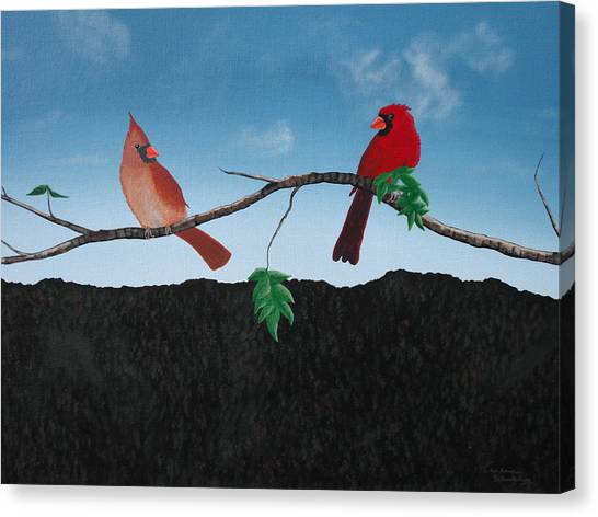 Cardinals No. 2 Canvas Print by Candace Shockley