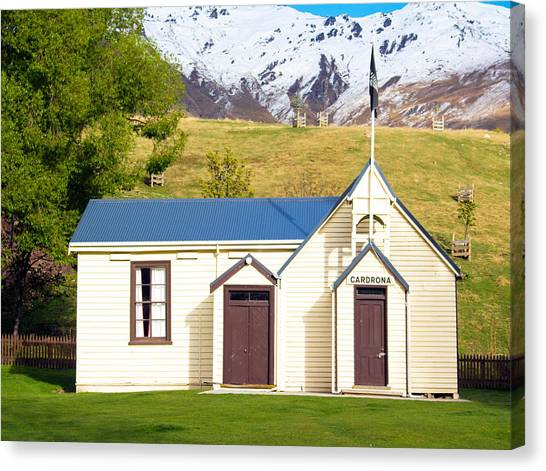 Cardrona Schoolhouse Canvas Print
